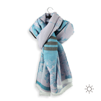 CHECHE COTON MODAL SOIE ASTRANCE TURQUOISE PARME