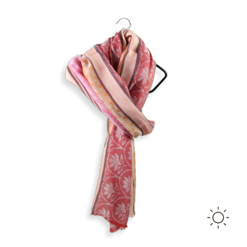 CHECHE COTTON MODAL ROSE DES SABLES - PINK RED