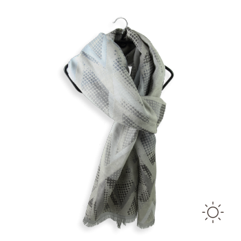 COTTON SILK SCARF HERA GREY