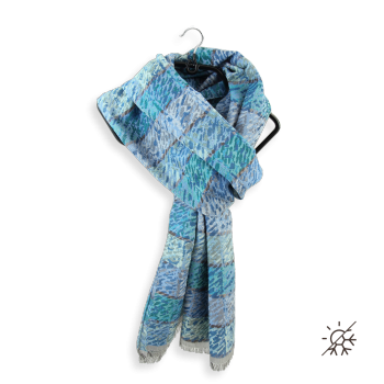 COTTON SILK STOLE ARES BLUE