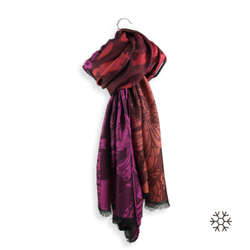 MAXI STOLE MERINO WOOL MODAL SILK PASSION RED FUXIA