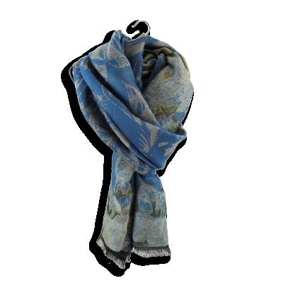 MERINO WOOL COTTON SILK BOTANIC DUCK BLUE