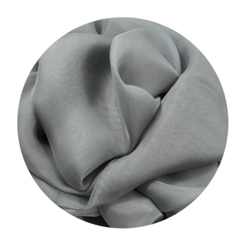 PLAIN SILK STOLE GRAY