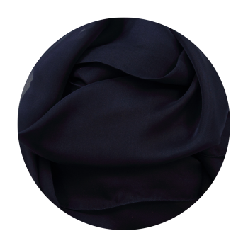 PLAIN SILK STOLE NAVY BLUE