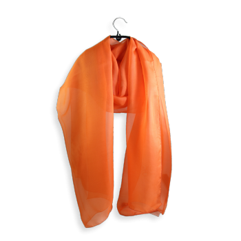 PLAIN SILK STOLE ORANGE