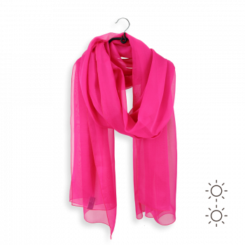 PLAIN SILK STOLE PINK FUXIA
