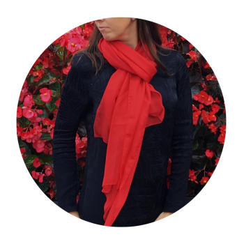 PLAIN SILK STOLE RED