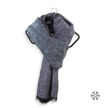 SCARF MERINO WOOL MODAL COTTON SILK SECRET GRAY PURPLE