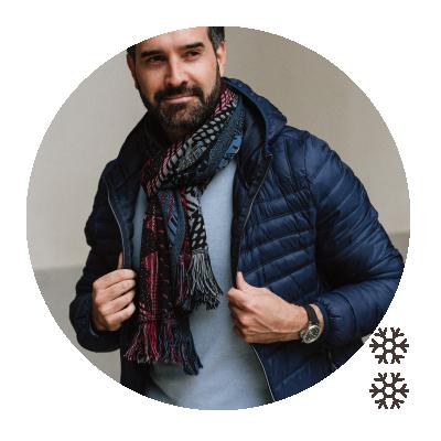 SCARF MERINO WOOL MODAL NEBULEUSE BLACK RED