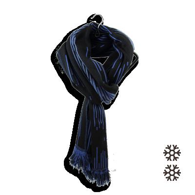 SCARF MERINO WOOL MODAL NEON BLUE NAVY