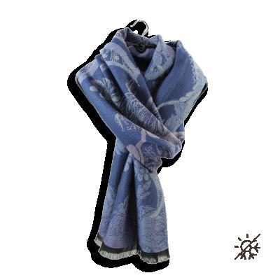 SCARF MODAL COTON WOOL SILK BLUE JEAN RENAISSANCE