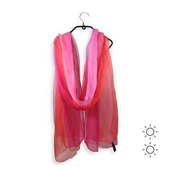 SILK SHADED STOLE RED FUCHSIA