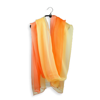 SILK SHADED STOLE YELLOW ORANGE