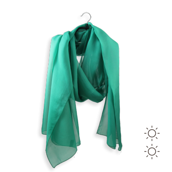 STOLE PLAIN SILK EMERALD GREEN