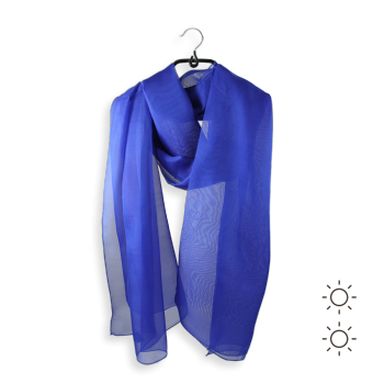 STOLE PLAIN SILK ROYALE BLUE
