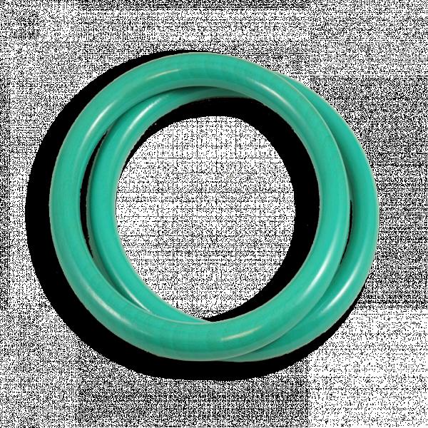 anneaux en hêtre bleu turquoise made in france