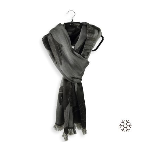 Woman-stole-silk-cashmere-brown-Serenade-4A