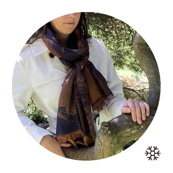 Woman-stole-silk-cashmere-rust-navy-Serenade-5A