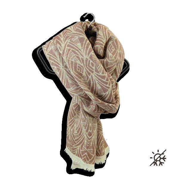 Chèche-homme-femme-coton bio-certifié-terracotta-Pampa