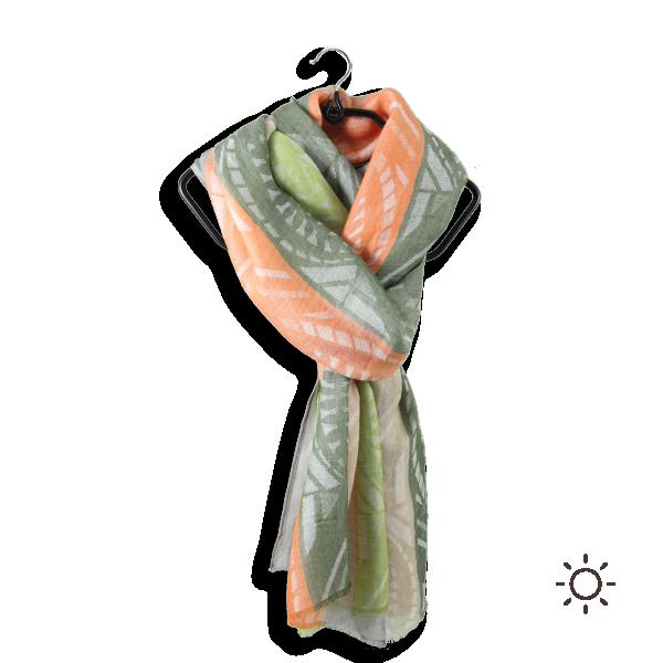 Cheche-femme-coton-modal-kaki-beige-Nautilus-3A