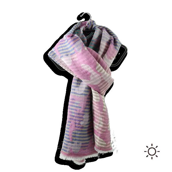 Chèche-femme-Ephese-soie-coton-modal-rose-4A