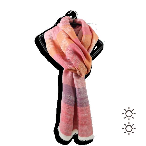 Chèche-femme-heracles-soie-coton-modal-rouge-corail-1A