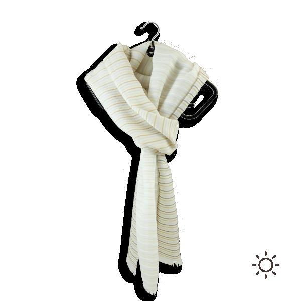 Cheche-femme-coton-soie-beige-blanc-cerf-volant-4A