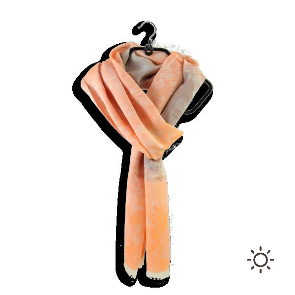 Cheche-femme-coton-soie-orange-salin-1A