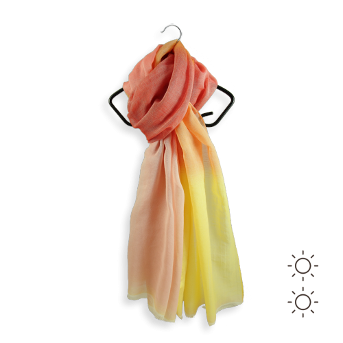 Cotton cheche made in France ecume yellow