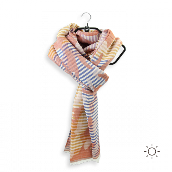 Man-women-scarf-cotton-modal-silk-rust-navy-Ephese-5A