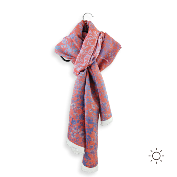 Woman-stole-cotton-modal-silk-red-Bacopa-3A