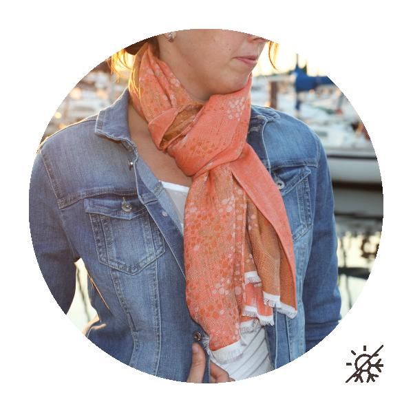 Woman-stole-cotton-modal-silk-orange-Perma-3A