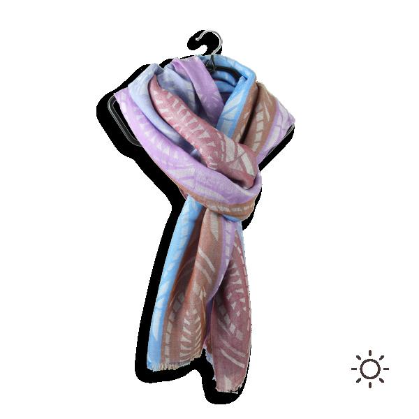 Woman-stole-cotton-modal-blue-purple-Nautilus-4A
