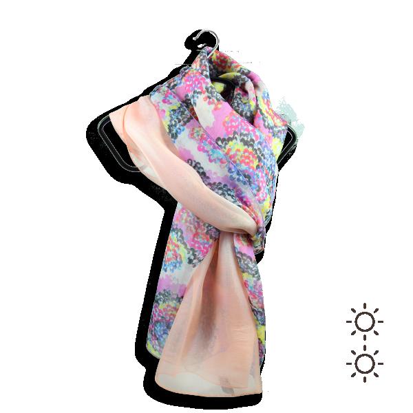 Foulard-femme-duo-de-soie-coquillage-rose-poudre-2A