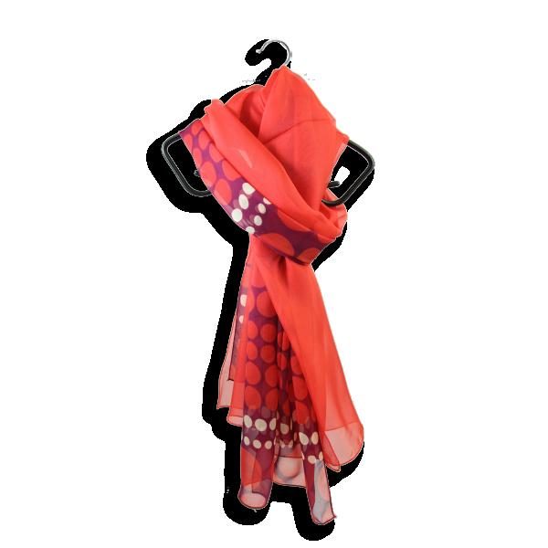 Duo-de-soie-femme-imprimé-pois-uni-rouge-3A