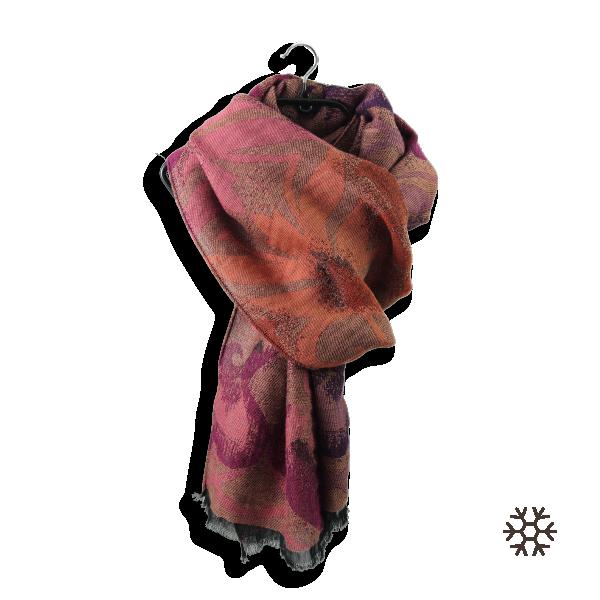 Echarpe-femme-vaporeux-laine-coton-orange-corail-1A