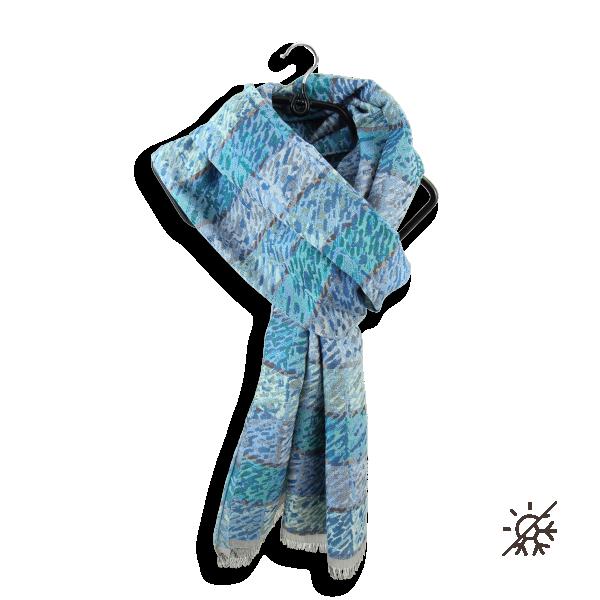 Echarpe-homme-coton-soie-bleu-turquoise-Ares-4A