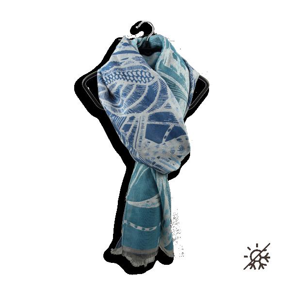 Echarpe-femme-soie-coton-bleu-turquoise-arthemis-4A