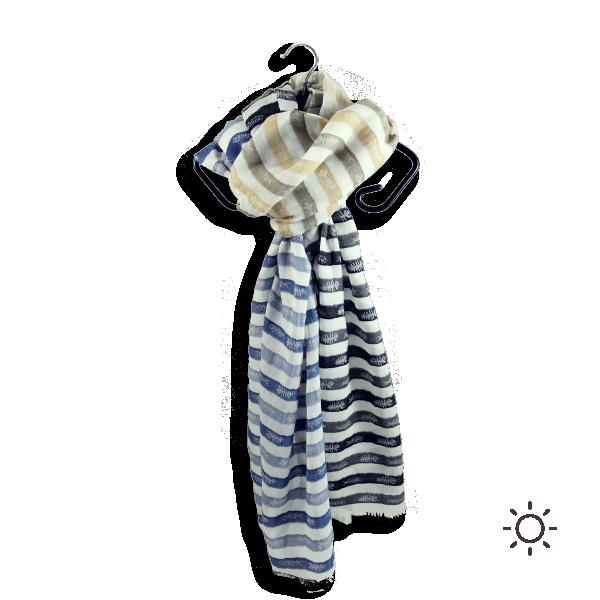 Foulard-femme-swing-fish-beige-bleu-coton-soie-4A