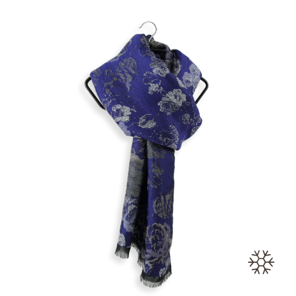 Echarpe-femme-laine-modal-coton-bleu-nuit-Florence-3A