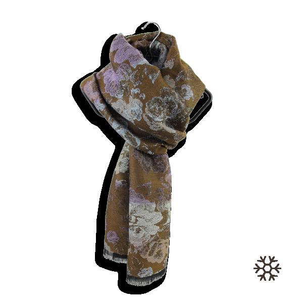 Echarpe-femme-laine-modal-marron-mauve-Florence-5A