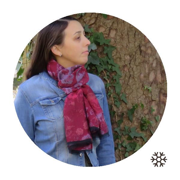 Echarpe-femme-laine-coton-modal-rouge-Florence-2A