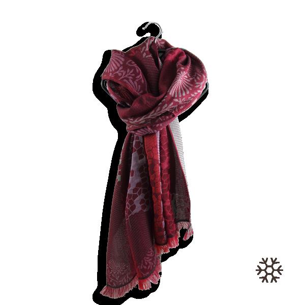 Echarpe-femme-charme-laine-soie-rouge-rose