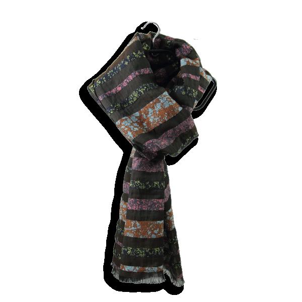 Echarpe-femme-granite-laine-coton-soie-marron-rose-poudre 2A