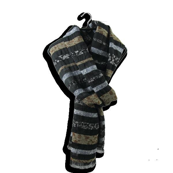 Echarpe-femme-granite-laine-coton-soie-noir-beige-5A