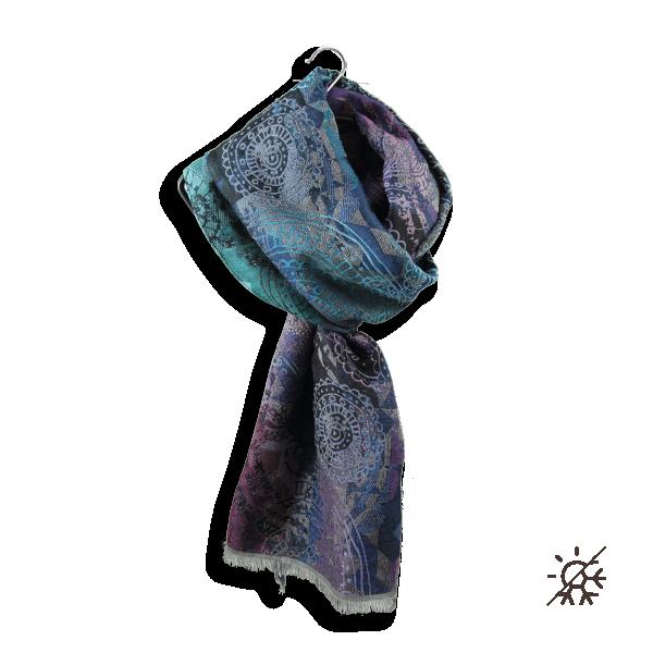 Echarpe-femme-inspire-laine-coton-soie-marine-turquoise-4A