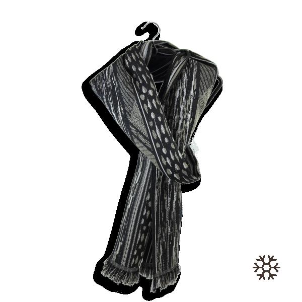 écharpe-mixte-laine-coton-soie-noir-beige-sauvage-5A