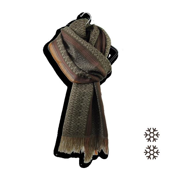 écharpe-homme-laine-marron-Tisserand-2A