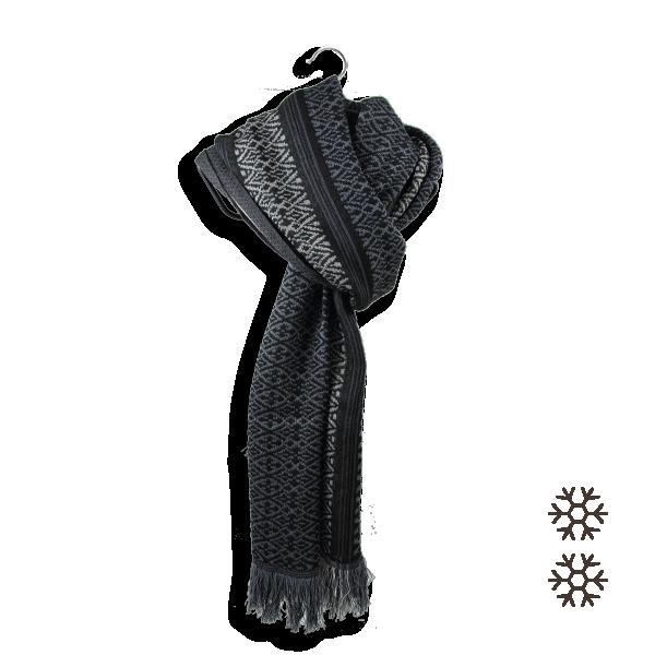 écharpe-homme-laine-noir-gris-Tisserand-5A