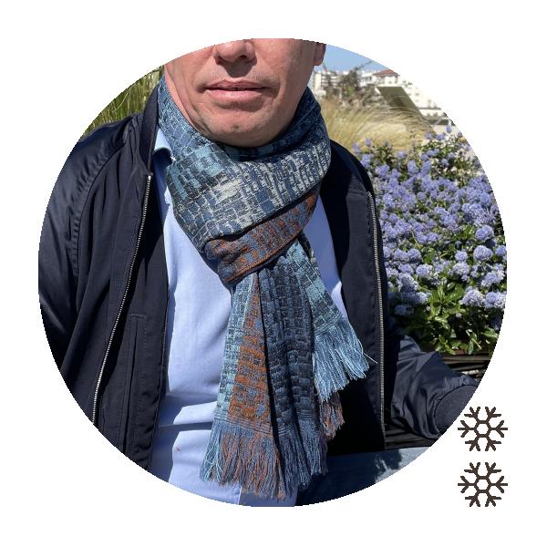 Echarpe-homme-laine-bleu-jean-Janeiro